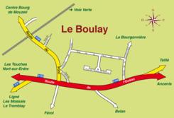 Plan du lieu-dit «Le Boulay»