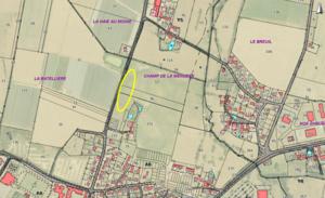 Plan du lieu-dit Le Champ de la Menuère à Loireauxence (Varades)
